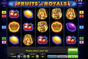Игровой онлайн аппарат Fruits and Royals в казино онлайн